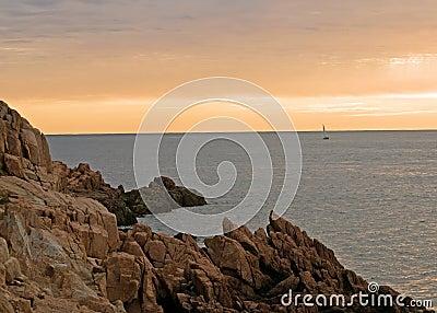 Maine seacoast at dawn