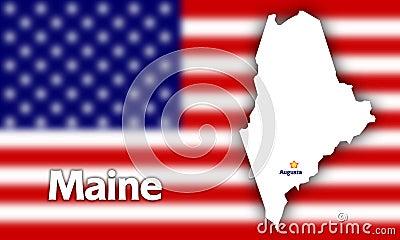 Maine state contour