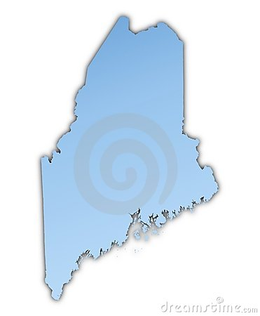 Maine(USA) map