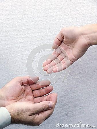 Mains des personnes. Mouvement.