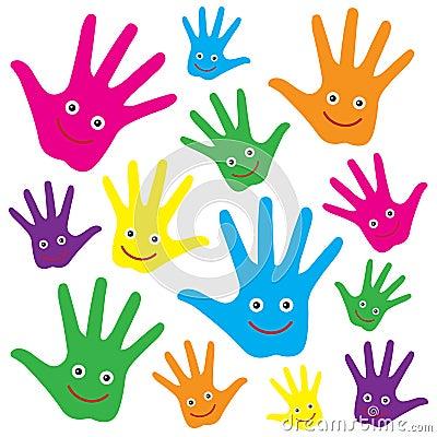Mains heureuses