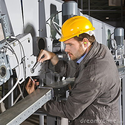 Free Maintenance Engineer At Work Stock Photography - 6425502