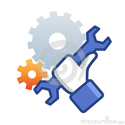 Free Maintenance Icon With Hand Wrench Stock Photography - 37717342