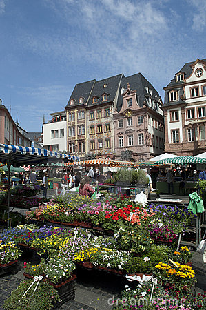 MAINZ, GERMANY Farmer market Editorial Image