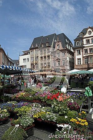 MAINZ, GERMANY Farmer market Editorial Image