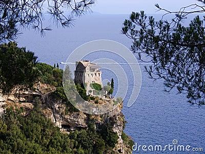 Maiori tower on the coast amal