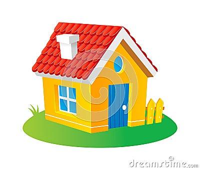 Maison de dessin anim image stock image 16120661 for Toit de maison dessin