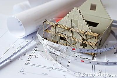 Maison de nouveau mod le sur le plan de mod le d - Modele d architecture de maison ...