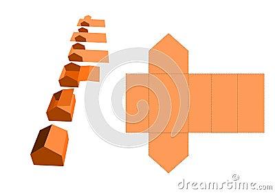 Maison de papier photo stock image 21671540 - Maison en papier pliage ...