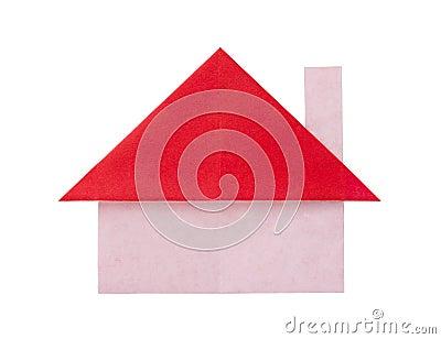 robe rouge de papier d 39 origami photo libre de droits. Black Bedroom Furniture Sets. Home Design Ideas