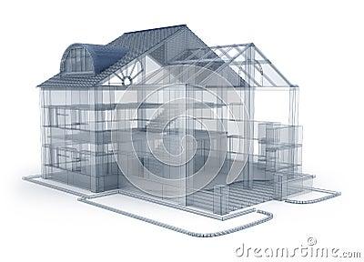 Maison de plan d 39 architecture photos stock image 19262863 for Modele d architecture de maison