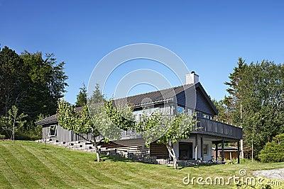 Maison en bois en Norvège