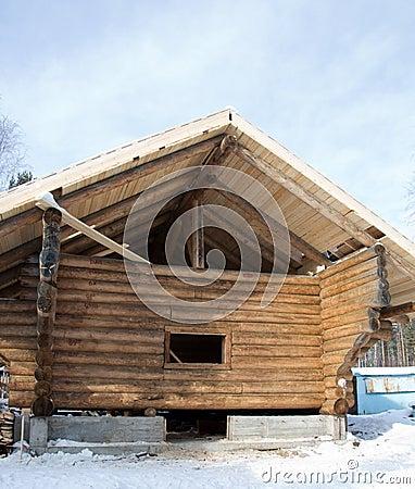 maison en bois russe traditionnelle image libre de droits image 19242916. Black Bedroom Furniture Sets. Home Design Ideas