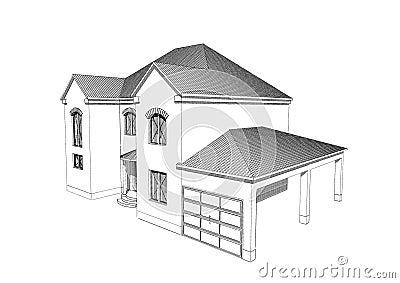 Conception maison 3d moderne plans maison 3d planchers de for Programme dessin maison