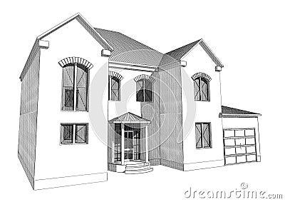 Conception de maison 3d conception de maison u2013 vue de for Programme dessin maison