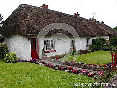 Maison type de toit couvert de chaume en irlande for Type de toiture maison