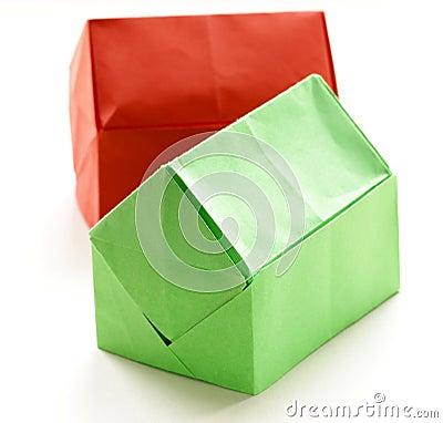 maisons de papier d 39 origami color photo stock image. Black Bedroom Furniture Sets. Home Design Ideas