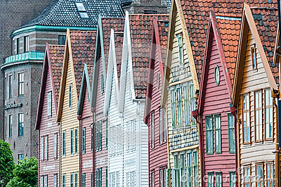 Maisons Hanseatic Image stock éditorial
