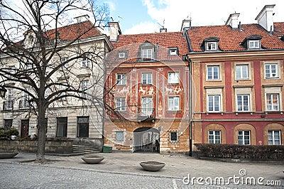 Maisto stary gapienia miasteczko Warsaw