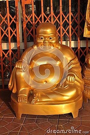 Maitreya Buddha Shine Brass