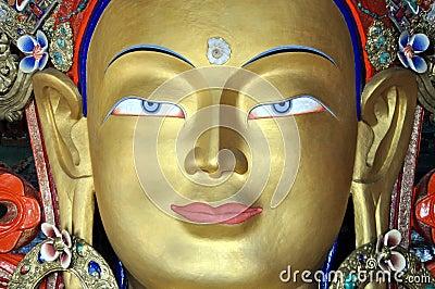 Maitreya - Future Buddha statue from Ladakh