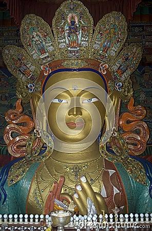 Maitreya, the Future Buddha, Tiksey, Ladakh, India