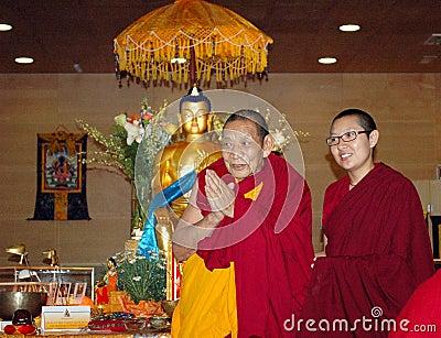 Maitreya Heart Shrine Relic Tour Lama Ciampa Monlam Editorial Image