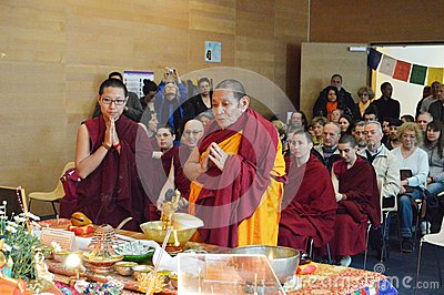 Maitreya Heart Shrine Relic Tour Editorial Stock Image