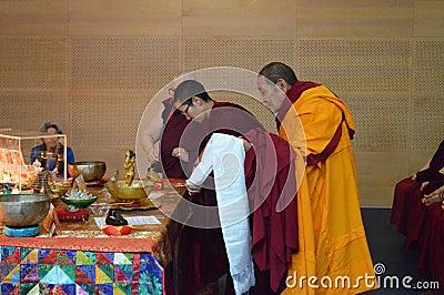Maitreya Heart Shrine Relic Tour Editorial Photo