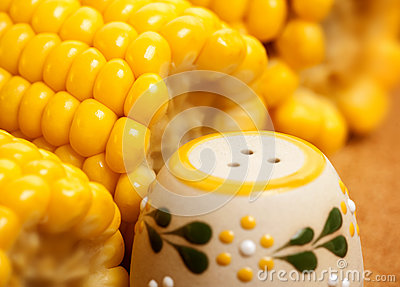 Maize with salt