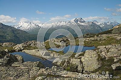 Majestic alpine landscape