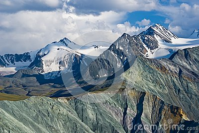 Majestic altai  mountains