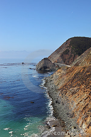 Majestic bridge on the coastal highway
