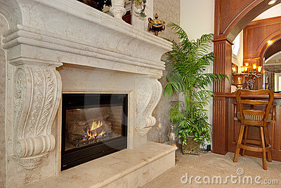 Majestic fire place