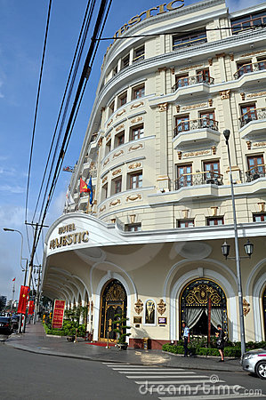 Free Majestic Hotel Entrance, Ho Chi Minh City, Vietnam Royalty Free Stock Photo - 19772915