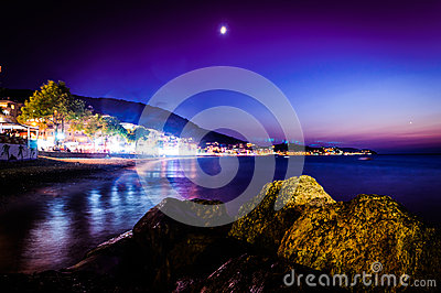 Majestic Island Night Scenery