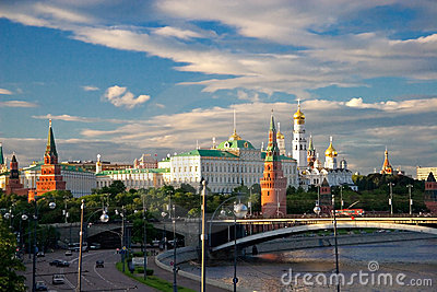 Majestic look to the Moscow Kremlin