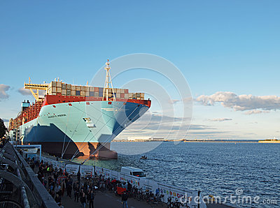 Majestic maersk largest container ship Editorial Photography