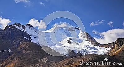 Majestic mountain landscape, glaciers