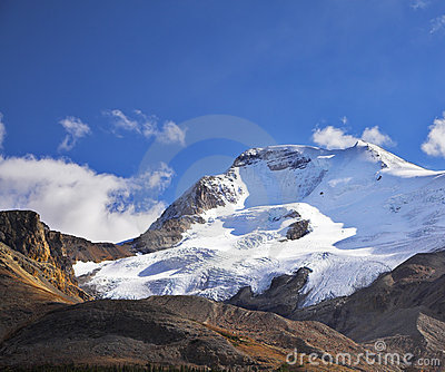 Majestic mountain landscape and glaciers
