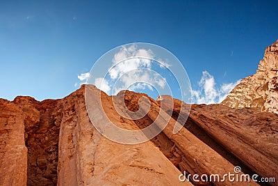 Majestic pillars rocks in the desert