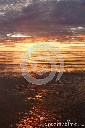 Free Majestic Summer Sunset Over The Chudskoy Lake Stock Photos - 125552453