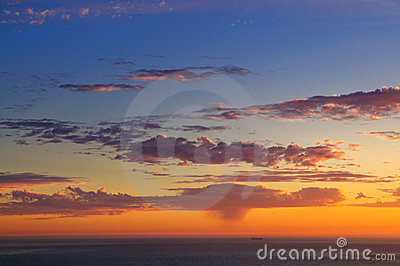 Majestic sunset over Pacific Ocean