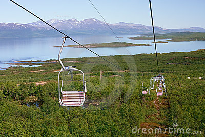 Majestic view from chair lift