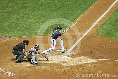 Major League Baseball Action Editorial Image