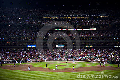 Major league baseball game Editorial Stock Photo
