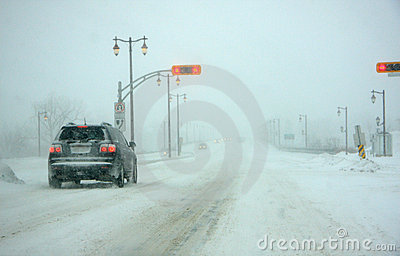 Major snow storm in Quebec Editorial Photo