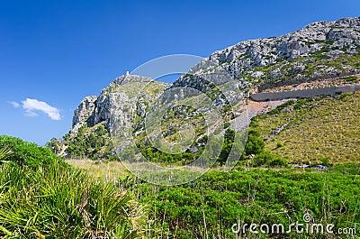 Majorca coast hills