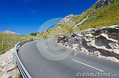 Majorca road curve