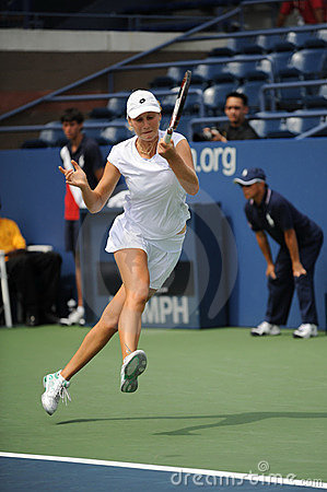 Makarova Ekaterina at US Open 2009 (29) Editorial Photography